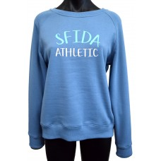 Lisa Ladies Crew Sweat - Blue Shadow