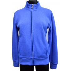 Nikki Ladies Full Zip Collar Jacket - Blue Marle