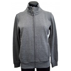 Nikki Ladies Full Zip Collar Jacket - Dark Heather Grey Marle