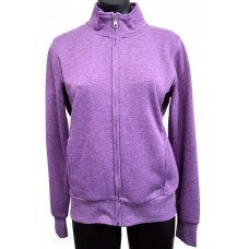 Nikki Ladies Full Zip Collar Jacket - Grape Marle