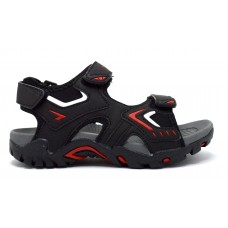 Rock Boys Sandal - Black/Red